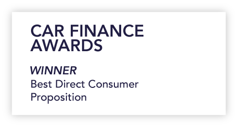 Logo for car finance awards best direct consumer proposition 2019