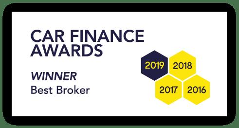 Logo for car finance awards best broker 2019