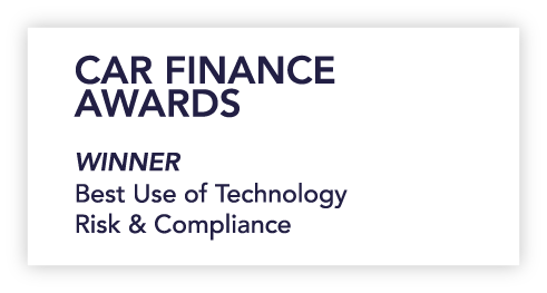 Logo for car finance awards best use of technology risk and compliance 2019