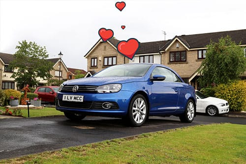 Blue VW Polo bought with car finance through my car credit