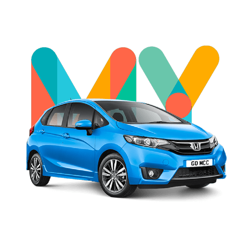 Colourful my car credit behind red Renault purchased using bad credit car loan