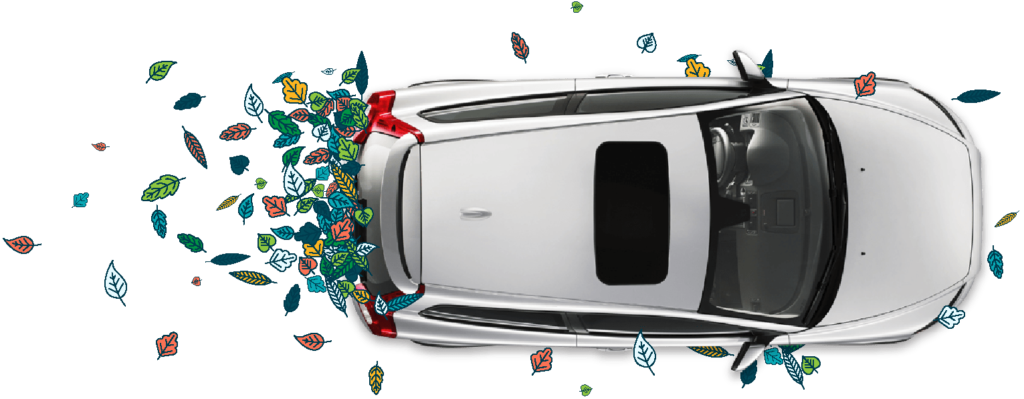 Silver car with colourful leaves for fast car finance