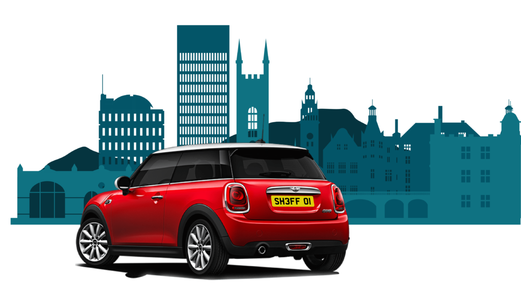 red mini bought using car finance in sheffield