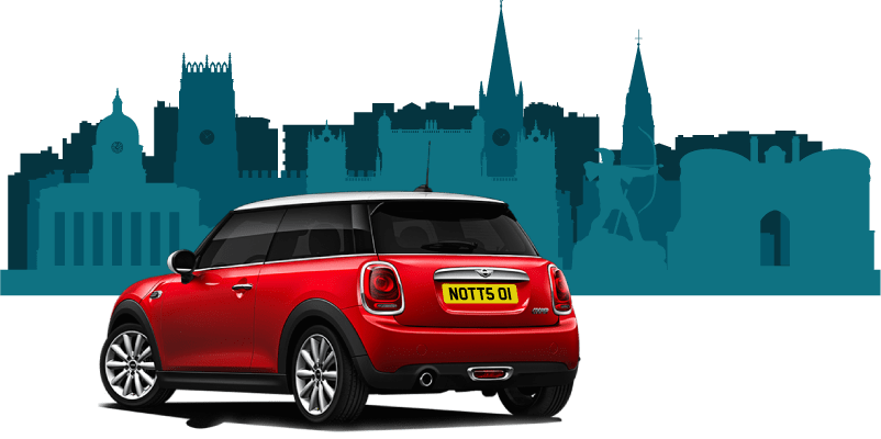 red mini bought using car finance in Nottingham