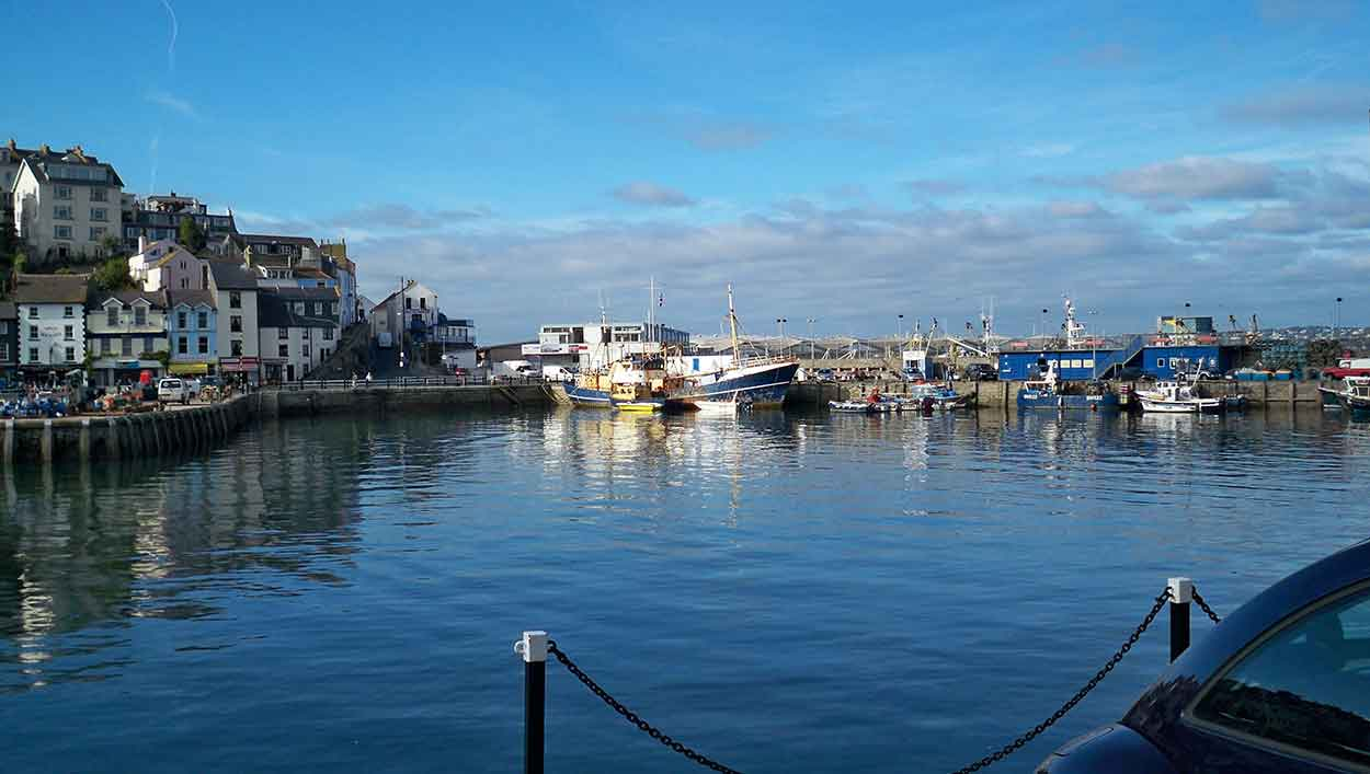 brixham quayside in devon staycation