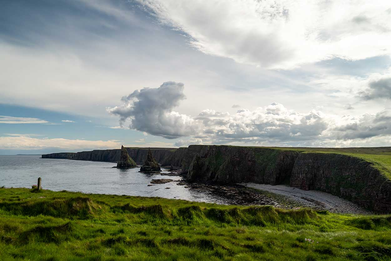 duncansby stacks on the north coast 500 in scotland
