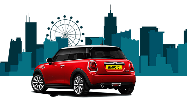 red mini bought using car finance in manchester