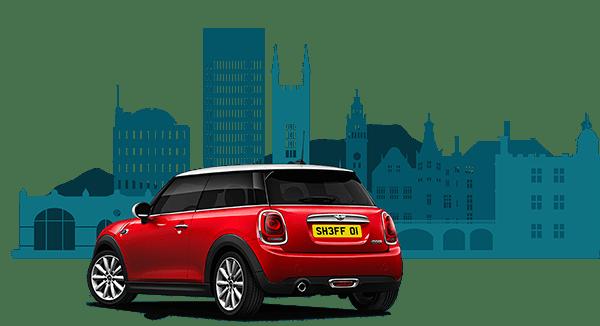 red mini bought using car loan in sheffield